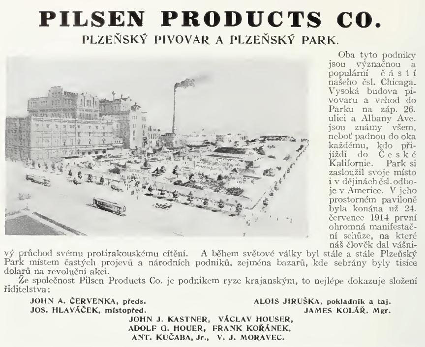 PilsenBreweryAdWorldsFairMemorialOfTheCzechoslovakGroup1933