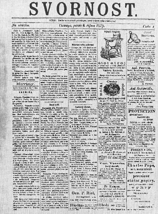 SvornostFirstEditionFirstPage1875AT525