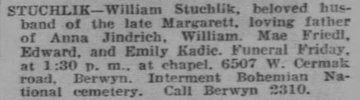 ObitTribuneMar231938Page116WilliamStuchlik