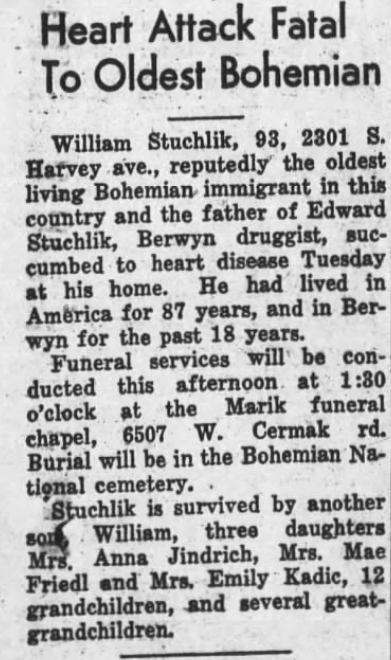 ObitTribuneMar251938Page1WilliamStuchlik